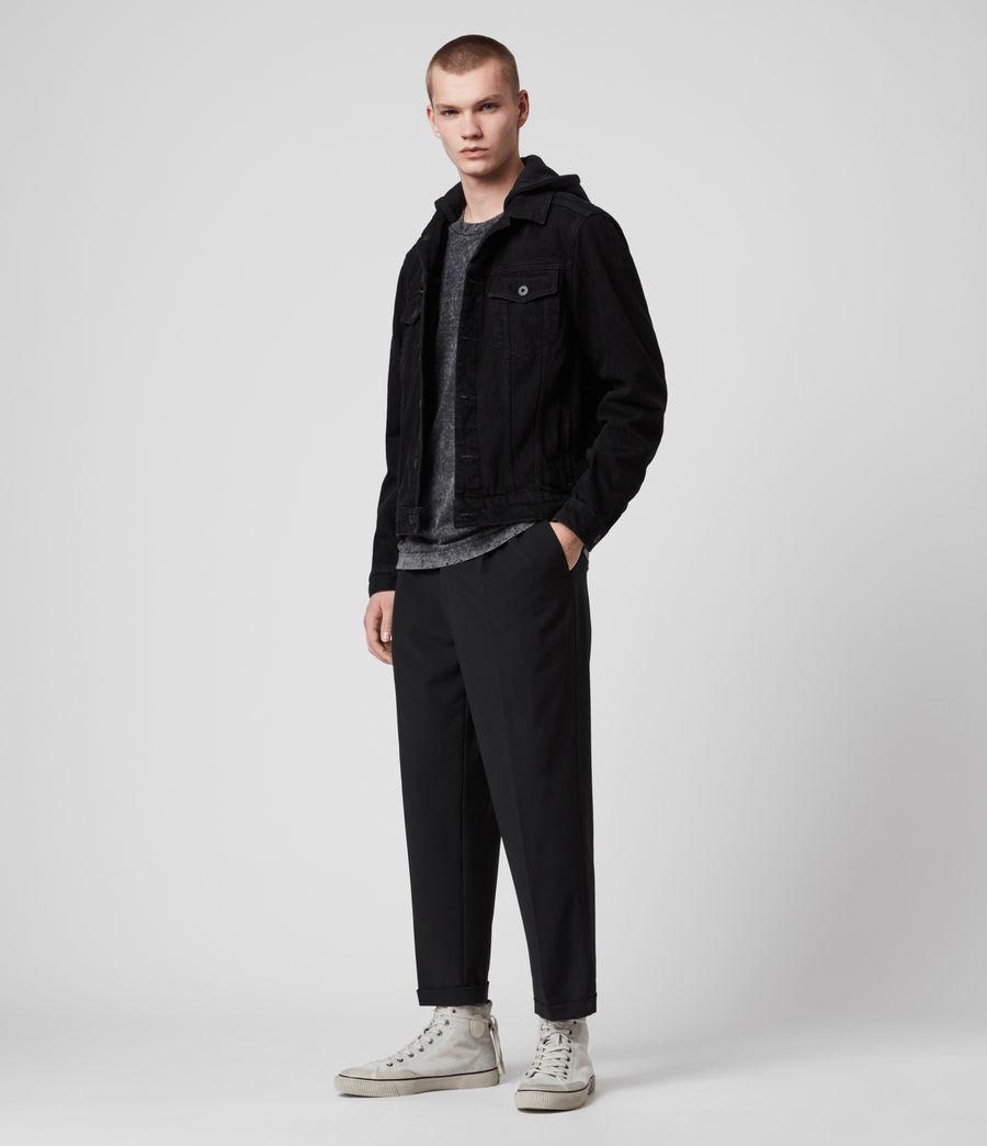 Men's Burnby Denim Jacket (black) - Image 3