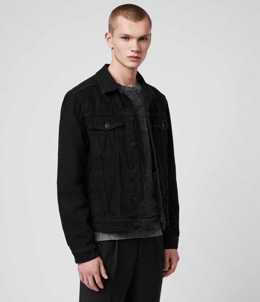 Men's Burnby Denim Jacket (black) - Image 4