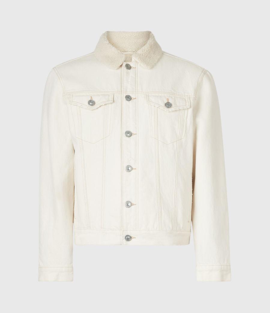 Mens Elgin Denim Jacket (ecru) - Image 2
