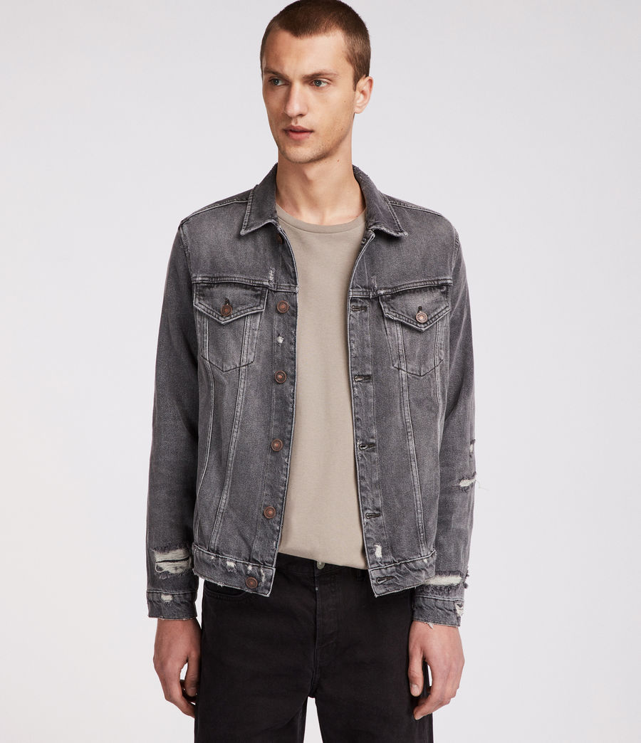 Men's Beltar Denim Jacket (washed_black) - Image 1