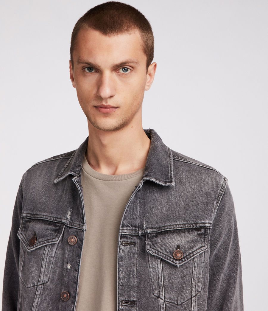 Men's Beltar Denim Jacket (washed_black) - Image 2