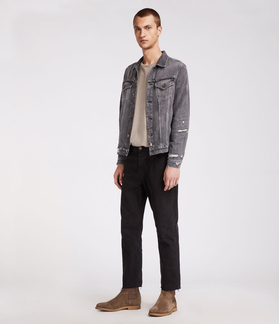 Men's Beltar Denim Jacket (washed_black) - Image 3
