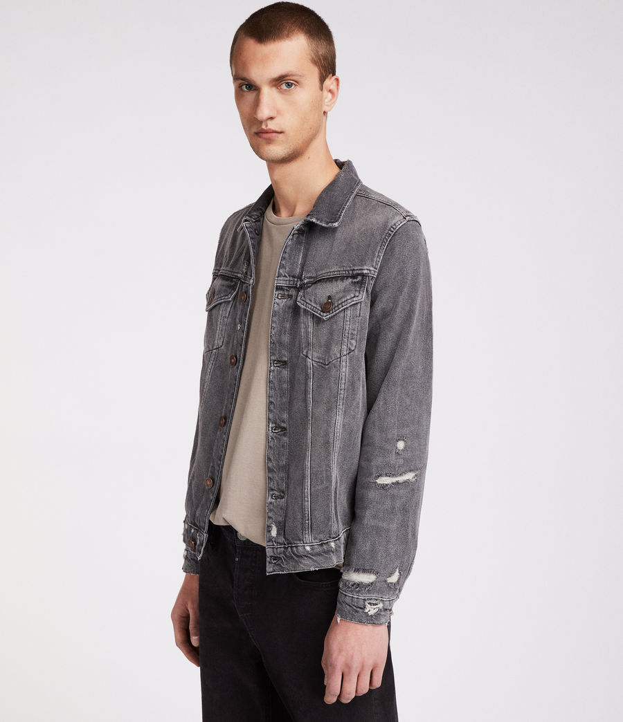 Men's Beltar Denim Jacket (washed_black) - Image 4