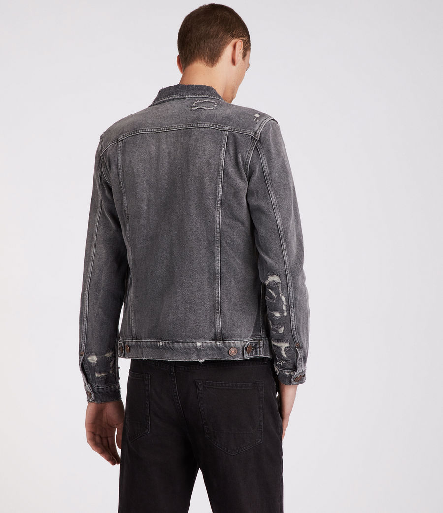 Men's Beltar Denim Jacket (washed_black) - Image 5
