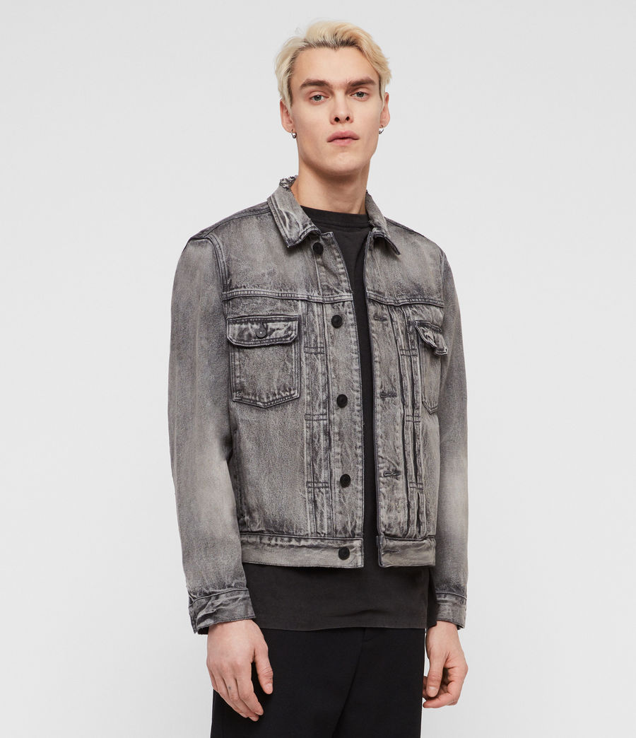 Mens Bohmer Denim Jacket (washed_black) - Image 1