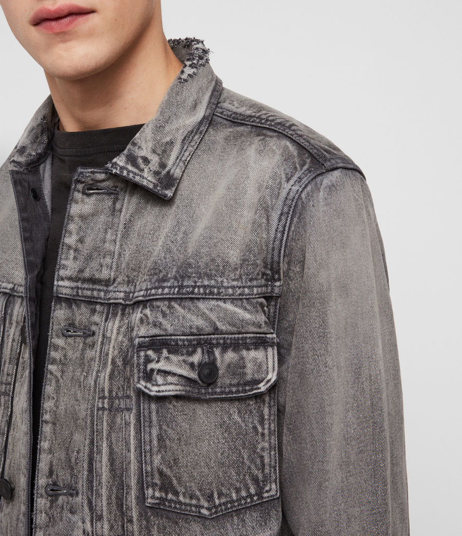 Mens Bohmer Denim Jacket (washed_black) - Image 2