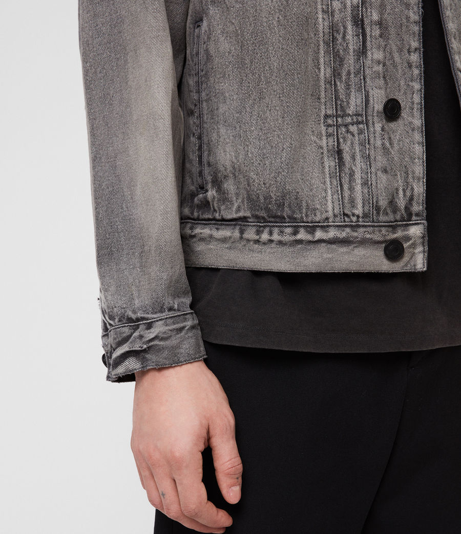 Mens Bohmer Denim Jacket (washed_black) - Image 4