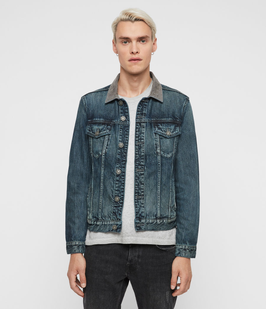 Mens Indeep Denim Jacket (washed_indigo) - Image 1