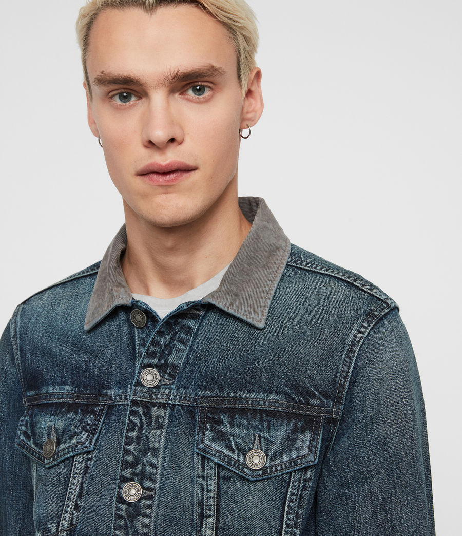 Mens Indeep Denim Jacket (washed_indigo) - Image 2