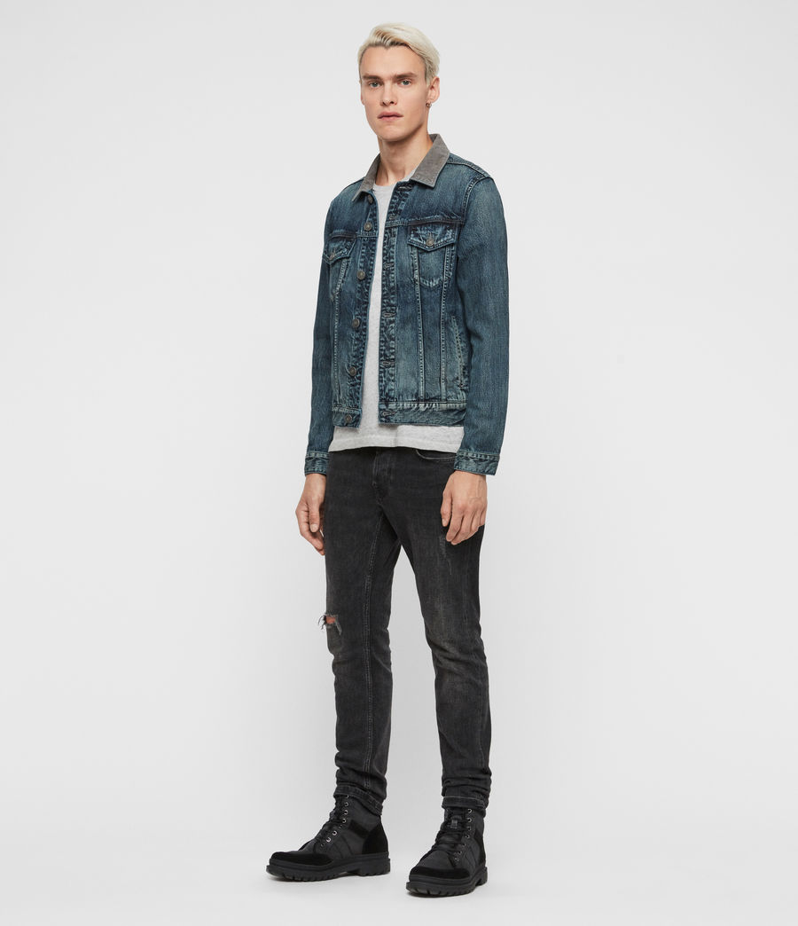 Mens Indeep Denim Jacket (washed_indigo) - Image 3