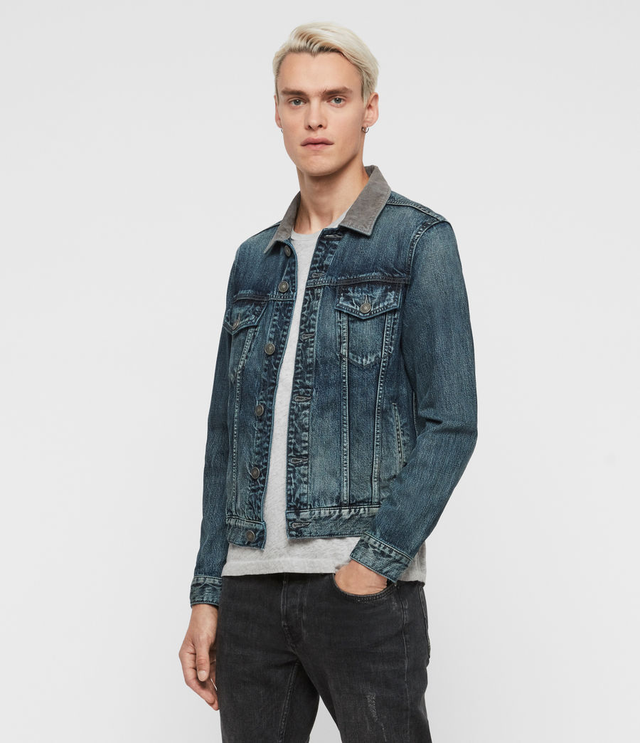 Mens Indeep Denim Jacket (washed_indigo) - Image 4