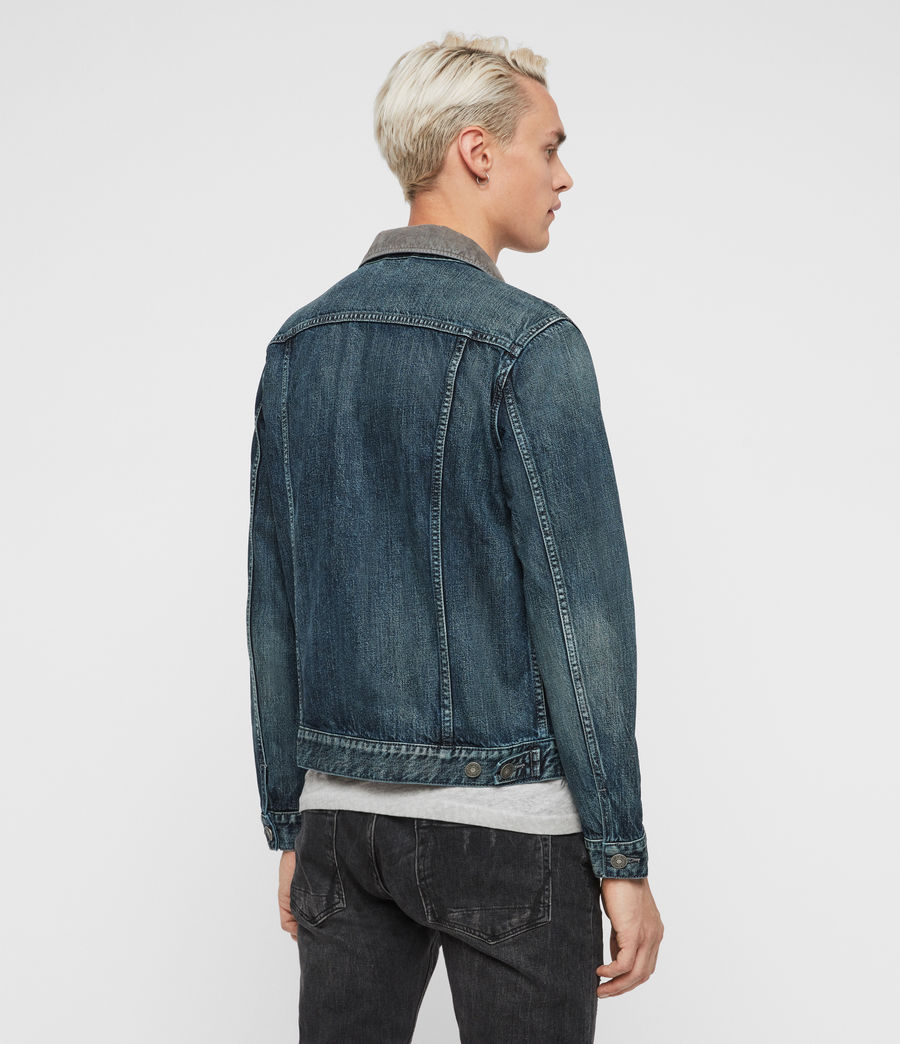 Mens Indeep Denim Jacket (washed_indigo) - Image 5