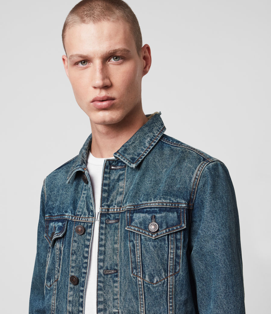Mens Drub Denim Jacket (green_cast_indigo) - Image 2