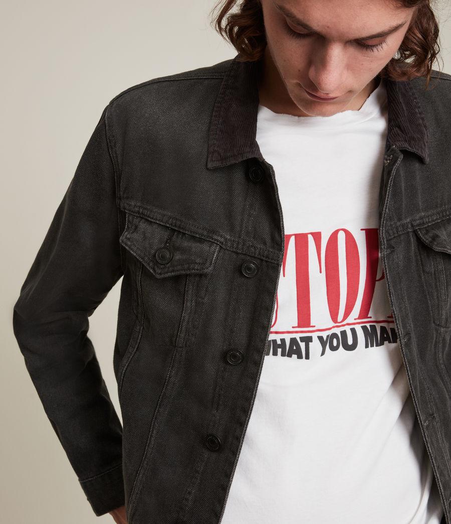 Men's Ormside Denim Jacket (washed_black) - Image 2