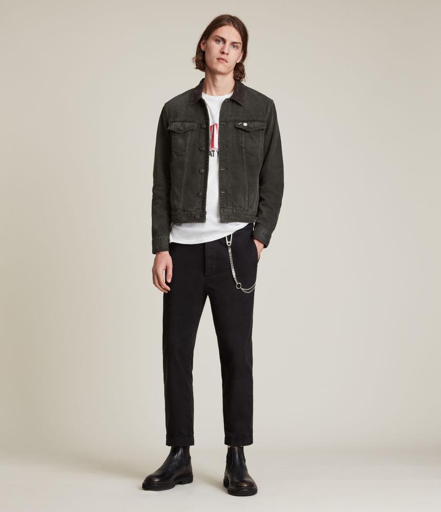 Men's Ormside Denim Jacket (washed_black) - Image 4