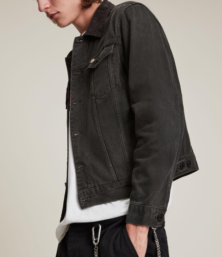 Men's Ormside Denim Jacket (washed_black) - Image 5