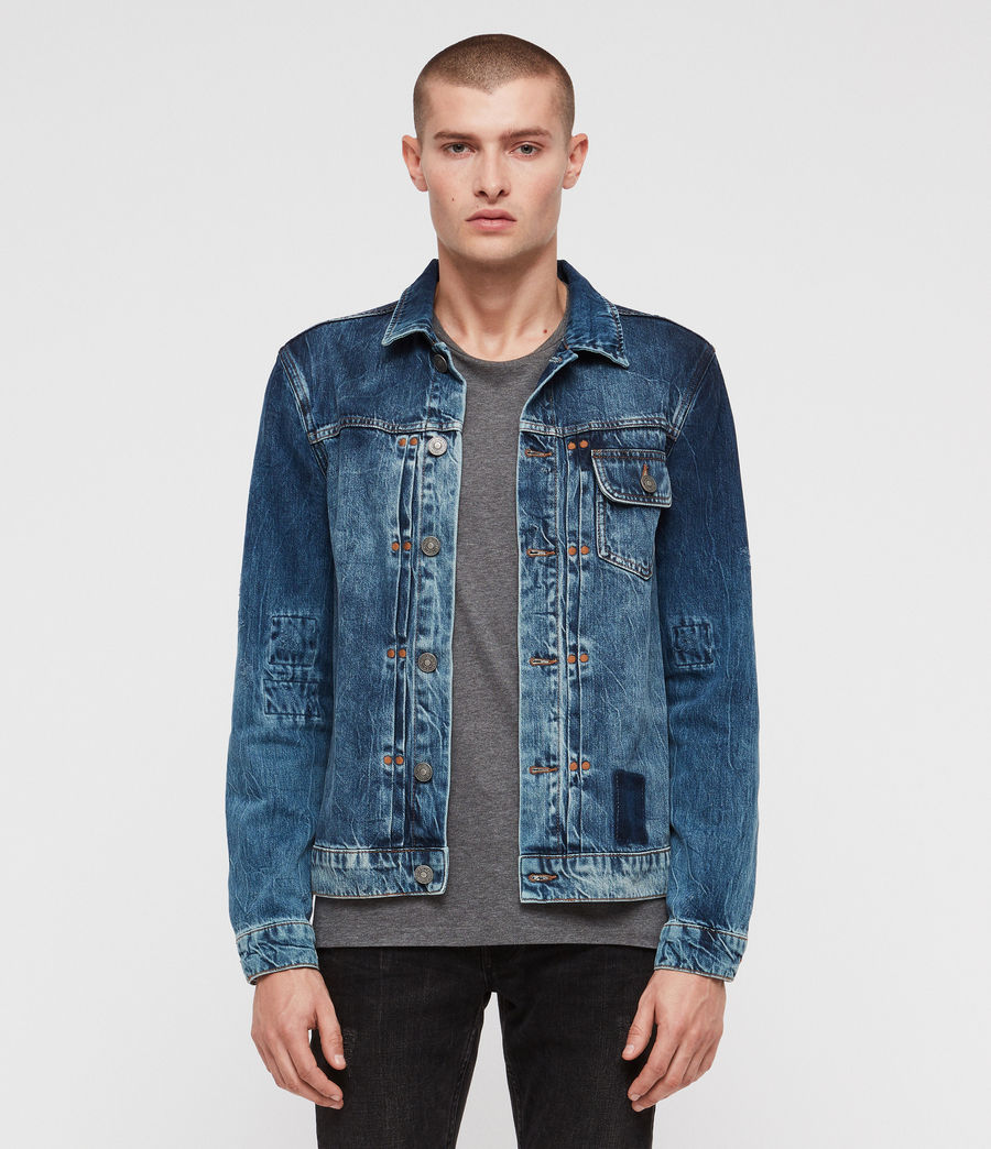 Men's Decker Denim Jacket (indigo) - Image 1