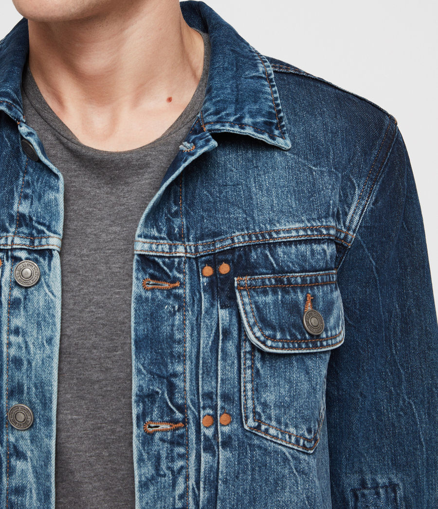 Men's Decker Denim Jacket (indigo) - Image 2