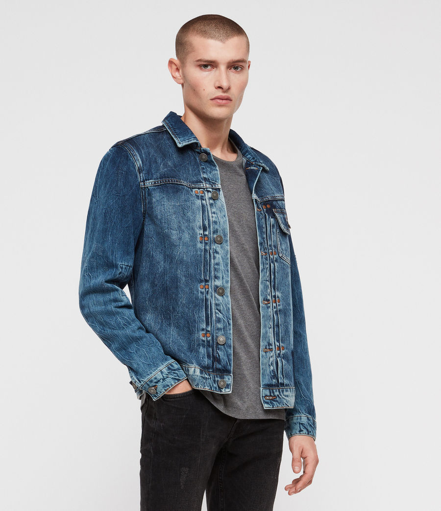 Men's Decker Denim Jacket (indigo) - Image 3