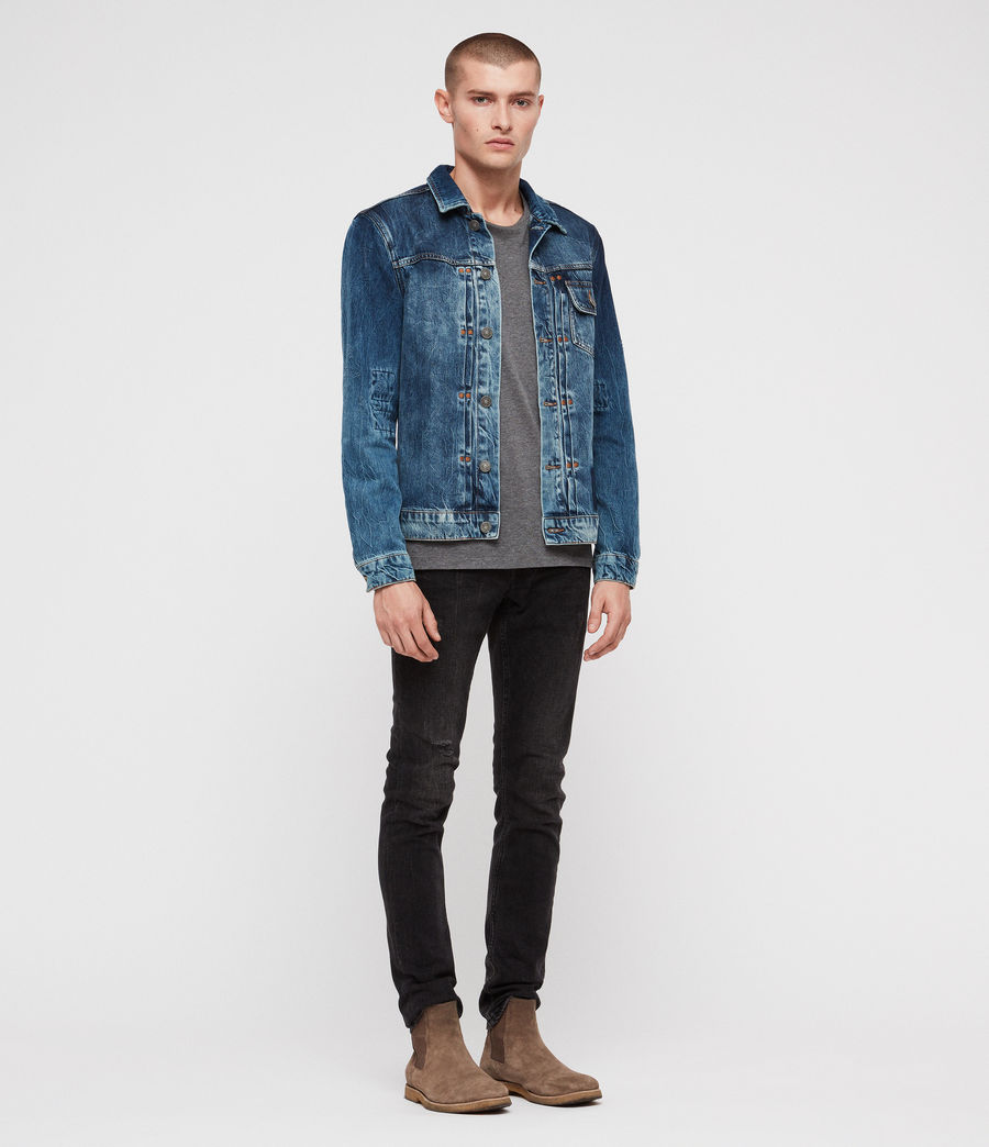 Men's Decker Denim Jacket (indigo) - Image 4
