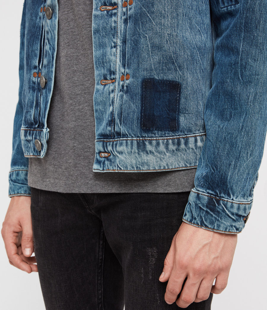 Men's Decker Denim Jacket (indigo) - Image 5