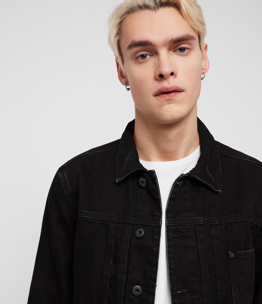Mens Belamy Denim Jacket (jet_black) - Image 2