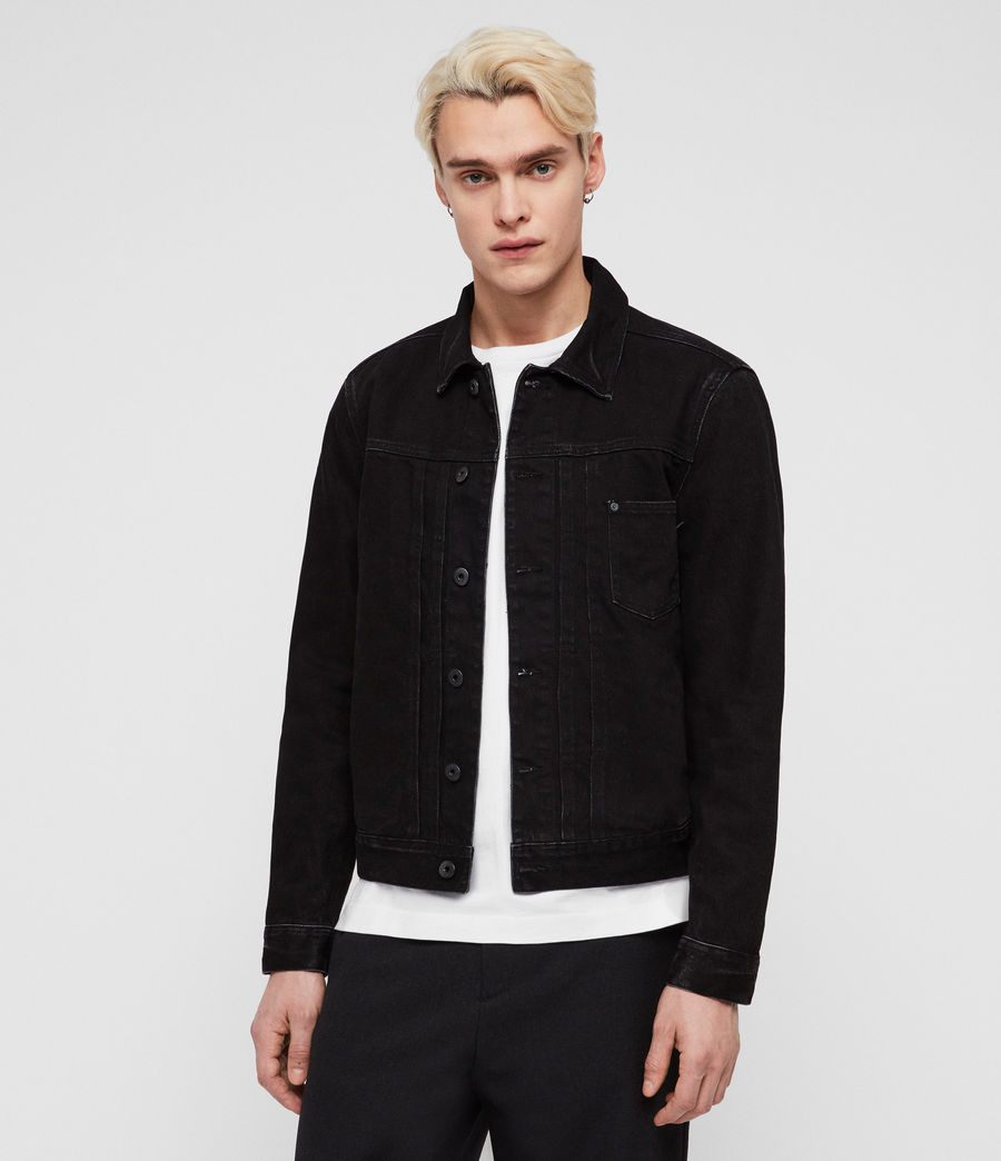Men's Belamy Denim Jacket (jet_black) - Image 4