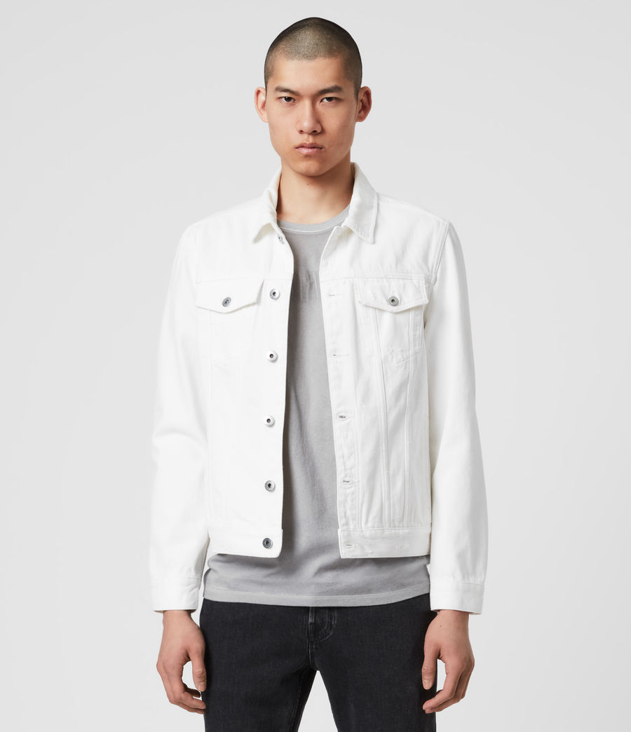 Herren Whitby Denim Jacket (white) - Image 1