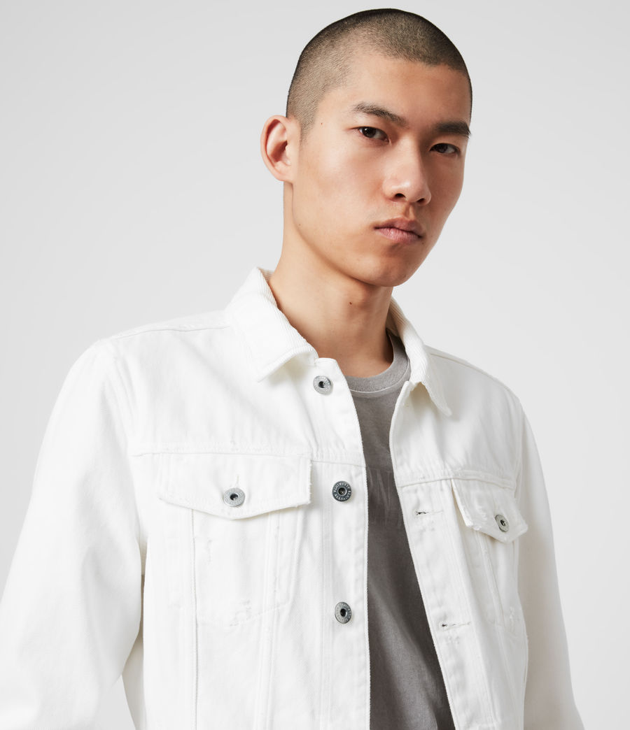 Mens Whitby Denim Jacket (white) - Image 2