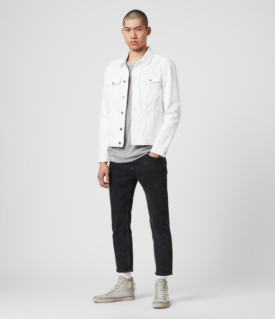 Mens Whitby Denim Jacket (white) - Image 3