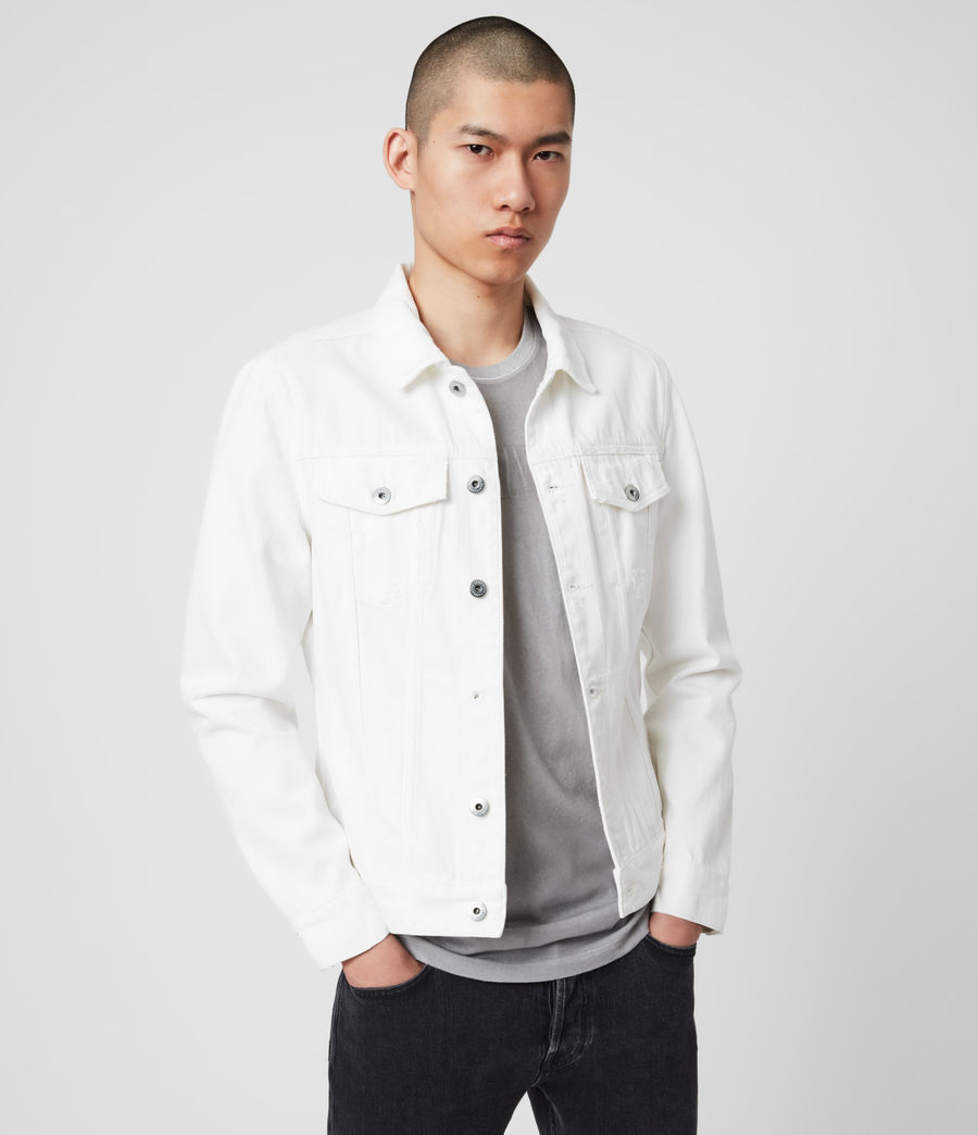 Mens Whitby Denim Jacket (white) - Image 4