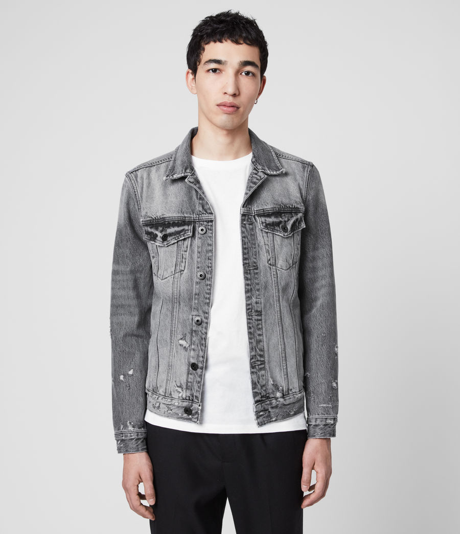 Men's Bilton Denim Jacket (washed_black) - Image 1