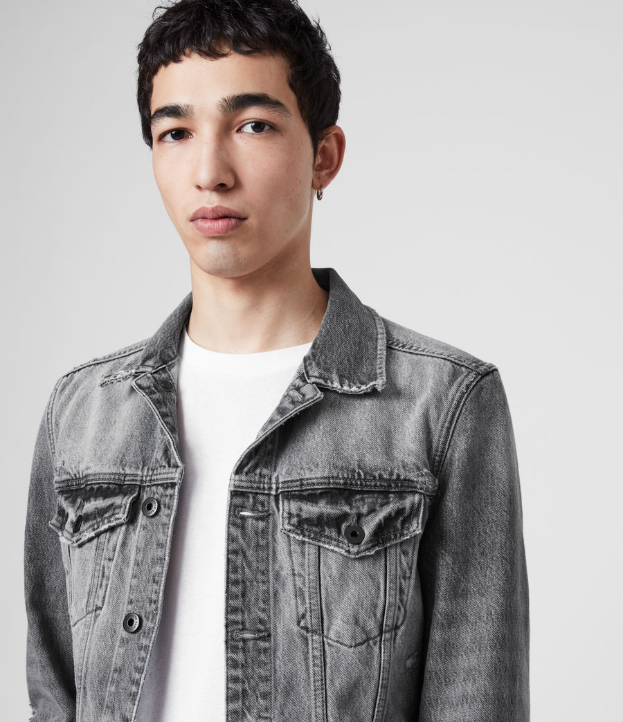 Men's Bilton Denim Jacket (washed_black) - Image 2