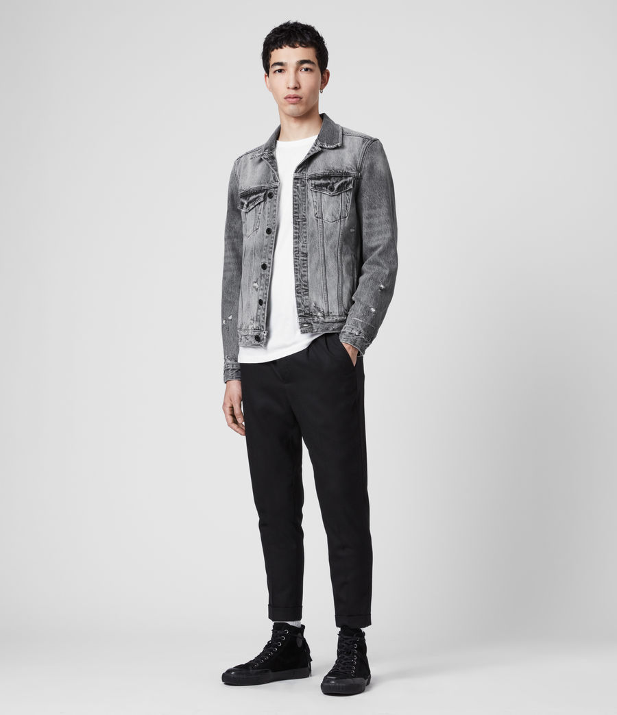 Men's Bilton Denim Jacket (washed_black) - Image 3