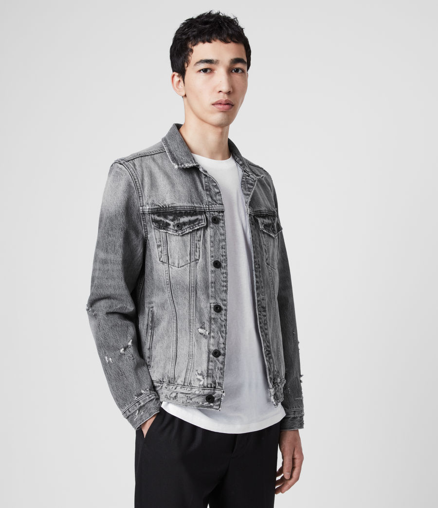 Men's Bilton Denim Jacket (washed_black) - Image 4