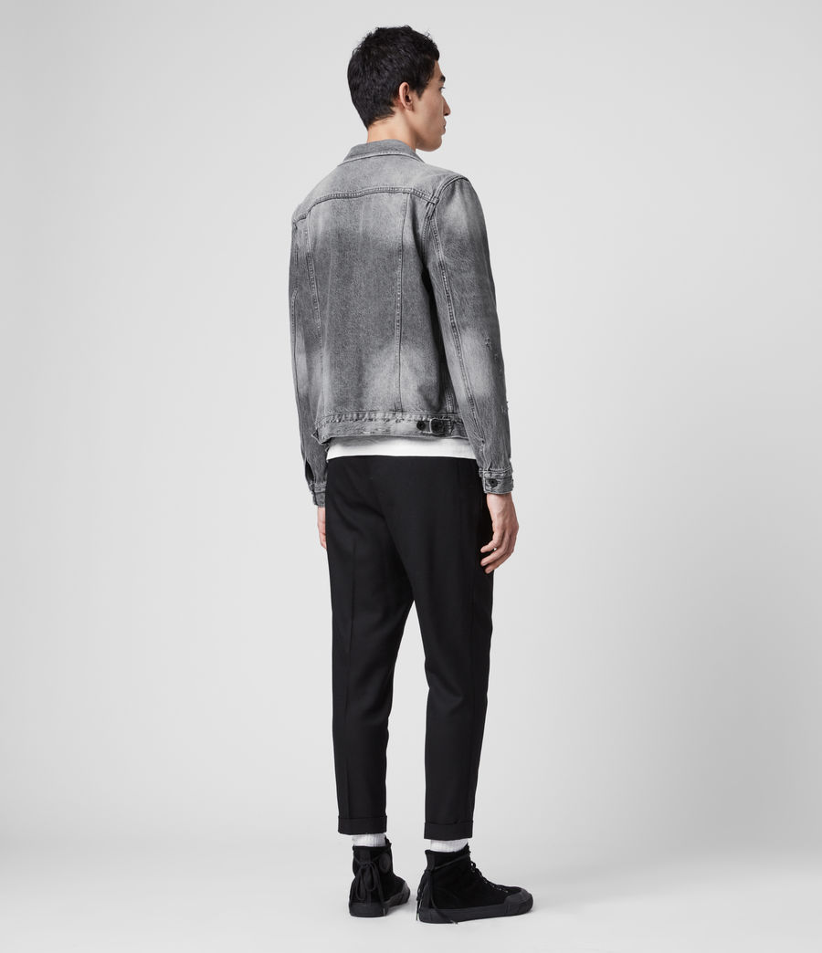Men's Bilton Denim Jacket (washed_black) - Image 5