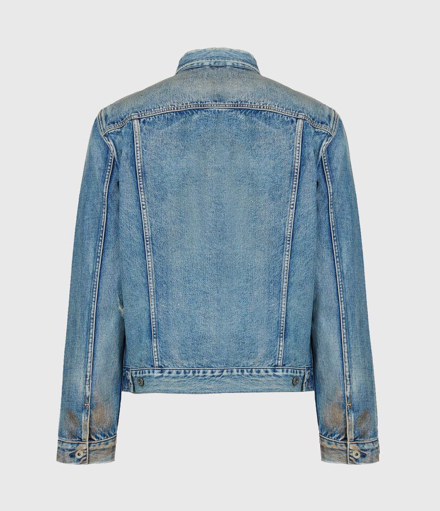 Mens Dunmore Distressed Denim Jacket (mid_indigo) - Image 3