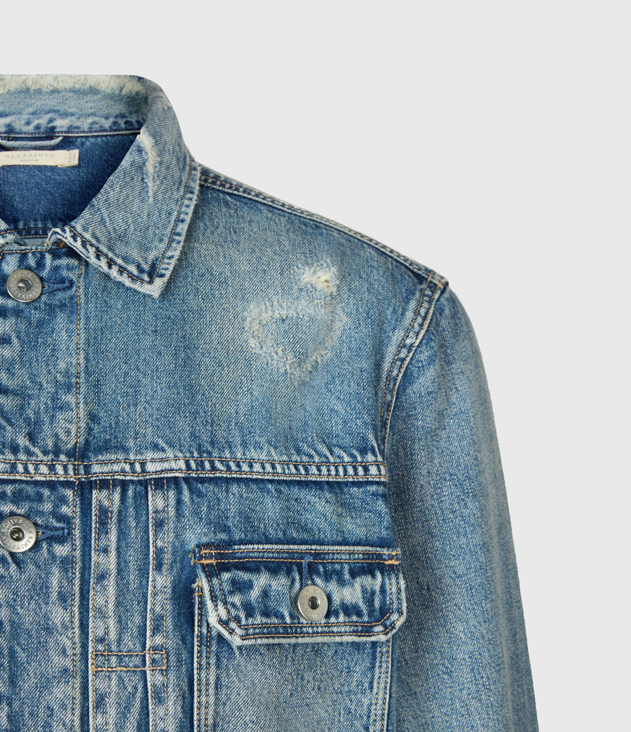 Mens Dunmore Distressed Denim Jacket (mid_indigo) - Image 5