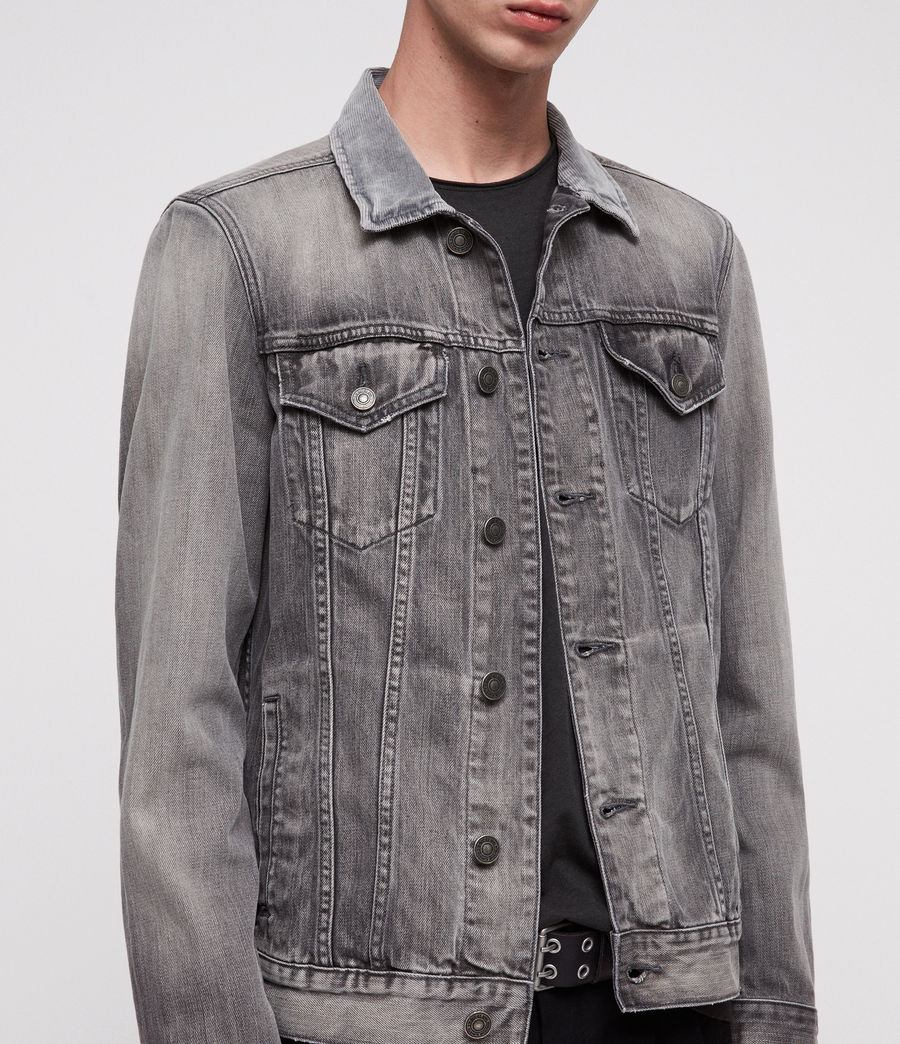 Men's Grafton Denim Jacket (grey) - Image 2