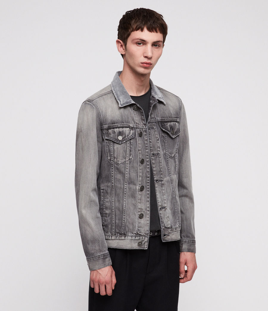 Men's Grafton Denim Jacket (grey) - Image 4