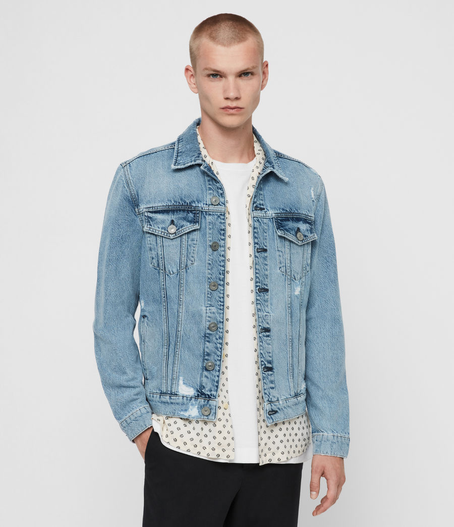 Mens Idle Denim Jacket (washed_indigo) - Image 1