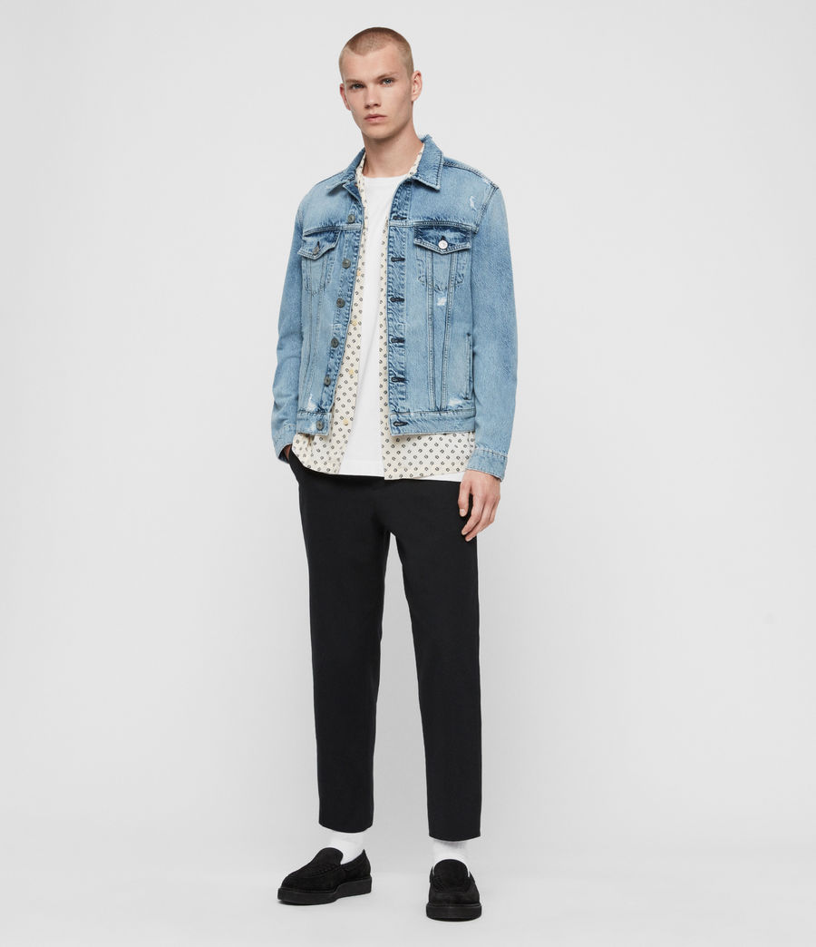 Mens Idle Denim Jacket (washed_indigo) - Image 3