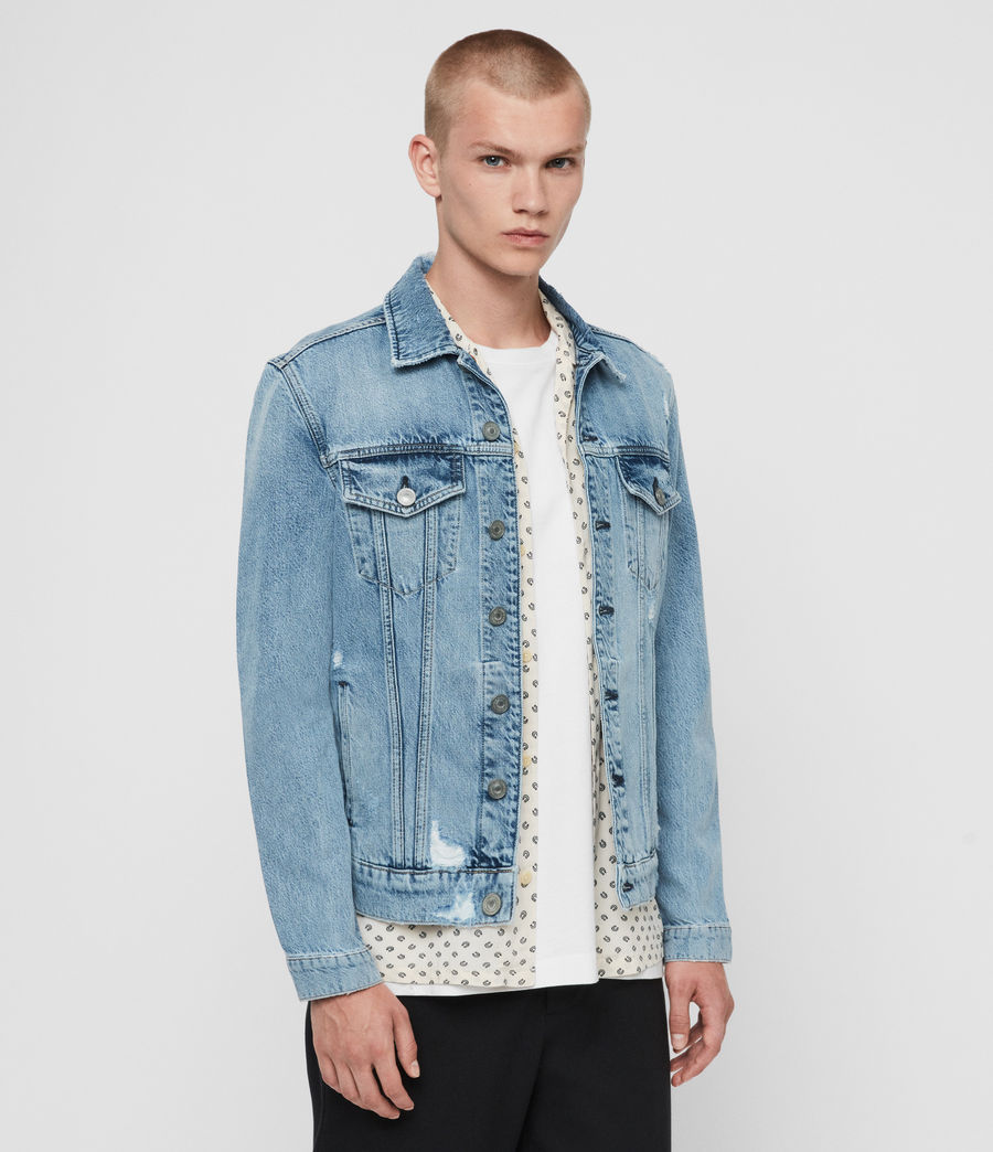 Mens Idle Denim Jacket (washed_indigo) - Image 4