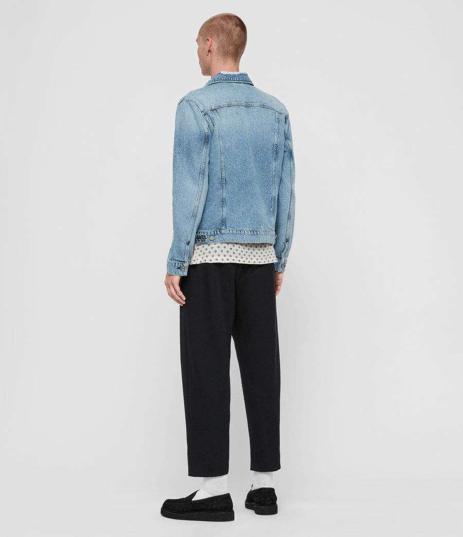 Mens Idle Denim Jacket (washed_indigo) - Image 5