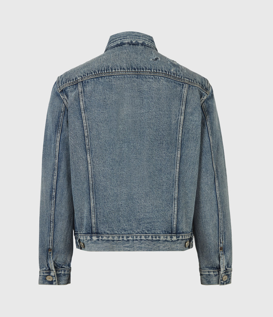 Men's Delta Denim Jacket (green_cast_indigo) - Image 3
