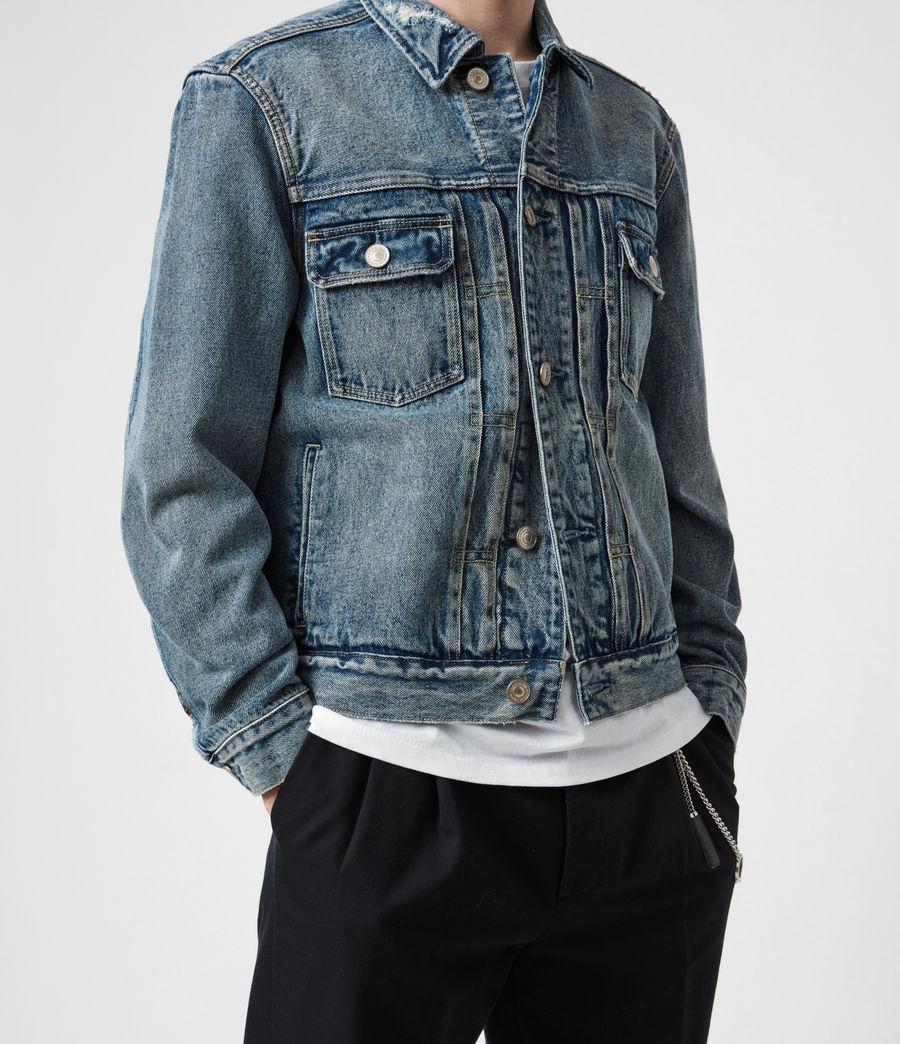Men's Delta Denim Jacket (green_cast_indigo) - Image 7