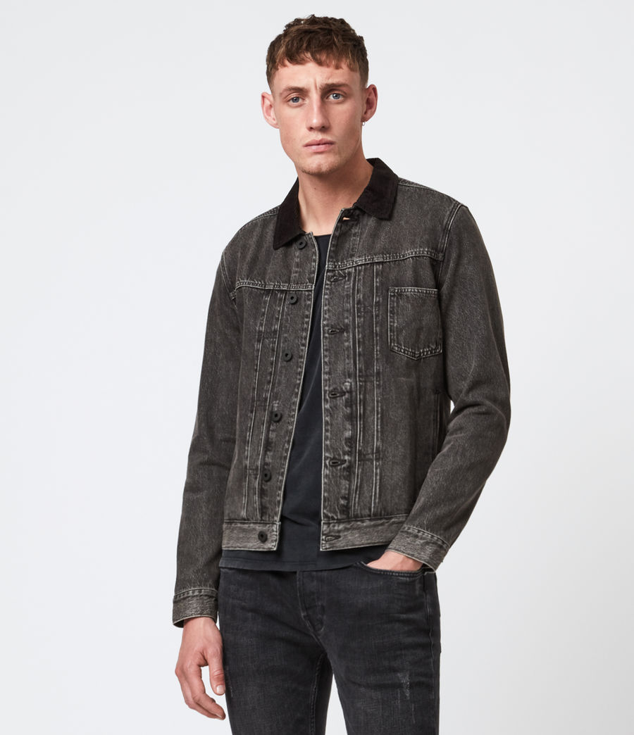 Mens Pembridge Denim Jacket (washed_black) - Image 1