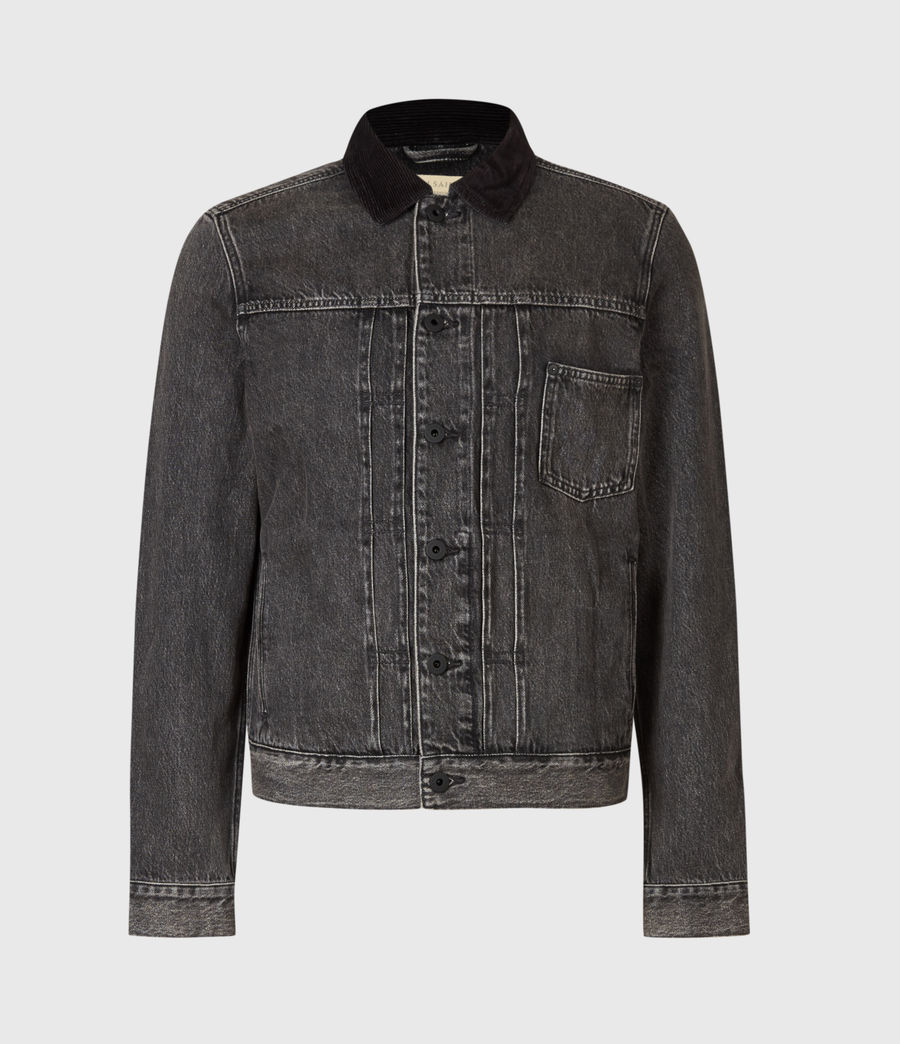 Mens Pembridge Denim Jacket (washed_black) - Image 2