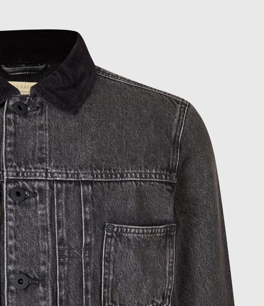 Mens Pembridge Denim Jacket (washed_black) - Image 4