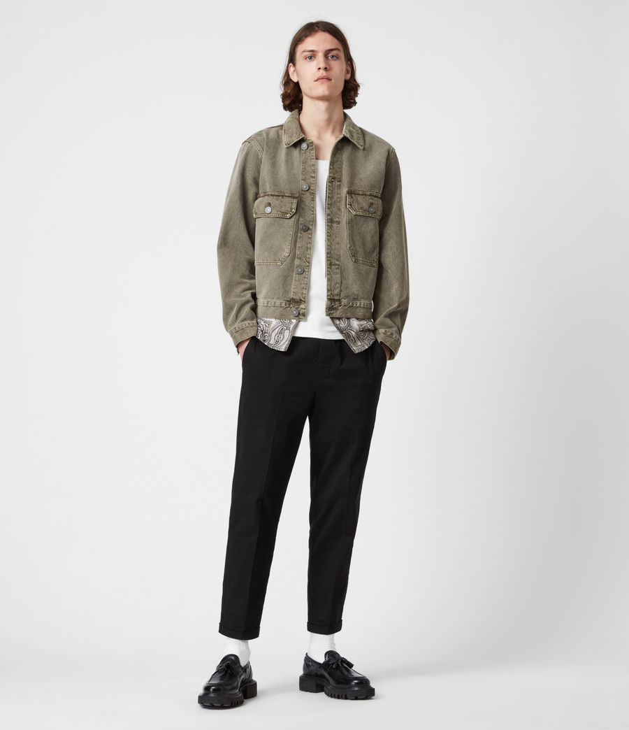 Men's Terrell Cotton Jacket (beech_green) - Image 6